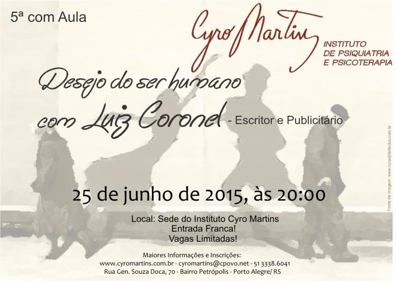 Quinta com aula – Instituto Cyro Martins